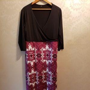 Long maxi dress 1x